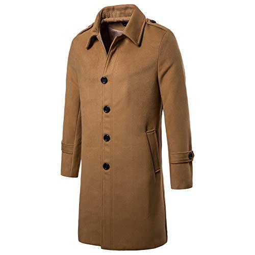 Trench Homme Coat Chaud Boutonnage Lapel Split Wslcn marron Blouson Manteau Veste Longue Belted A Classique R17wqdP