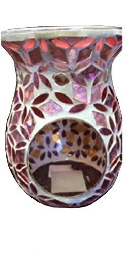 Biedermann & Sons Mosaic Tealight Oil Warmer, Pink Floral ()