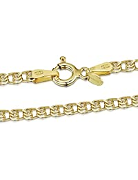 """18K Gold Plated on 925 Sterling Silver 2.3 mm Heart Chain Necklace 14"""" 16"""" 18"""" 20"""" 22"""" 24"""" in"""