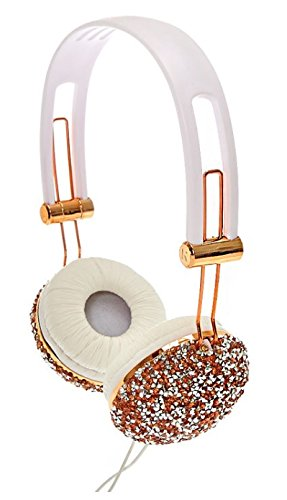 Claire's Girl's Crushed Rose Gold Crystal Headphones (Headphones Rhinestone)