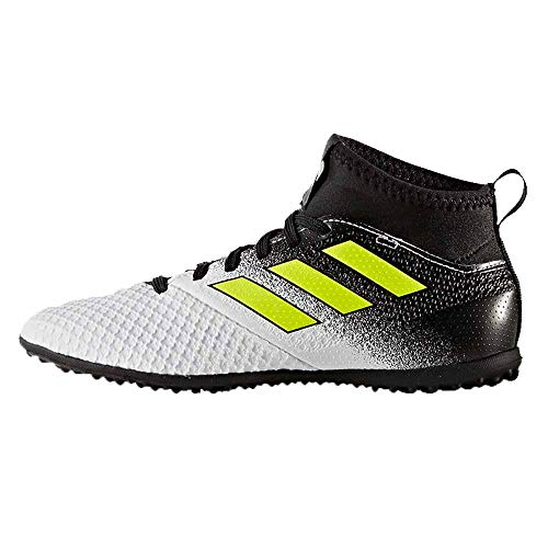 the best attitude f5e6d e3803 adidas Boys' ACE Tango 17.3 TF J Soccer Shoe, White/Solar Yellow/Black, 3.5  Medium US Little Kid