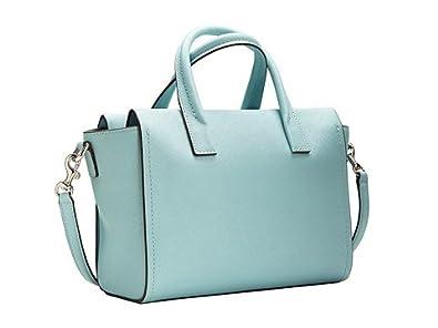 fdf813fe2a Coach Bleecker Mini Riley Carryall in Saffiano Leather Duck Egg Blue 30146   Handbags  Amazon.com