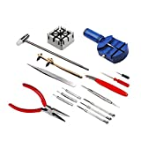 16 piece watch repair kit - Preamer 16 Piece Watch Repair Kit Set & Wrist Strap Adjust Pin Tool Kit