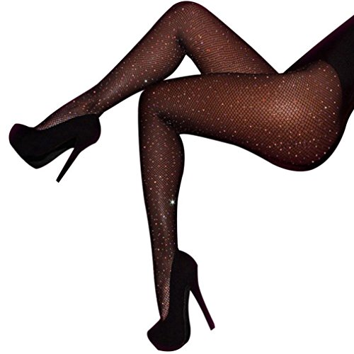 84074aadf72 Women s Rhinestone Stockings Fishnet Pantyhose Slim Hollow Out Tight Hosiery