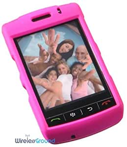BlackBerry Storm 9530 Rubberized Phone Protector Case with Optional Belt Clip - Hot Pink