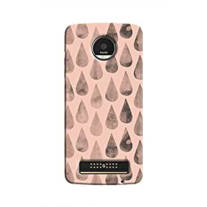Cover It Up - Pink Dark Drops Moto Z Play Hard case
