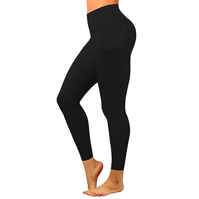 cb4d9dc02d Eaylis Pantaloni da Yoga da Donna Nudi con Tasche nascoste: Amazon.it:  Abbigliamento