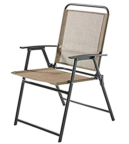 Brilliant Amazon Com Mainstays Pleasant Grove Sling Bistro Dining Bralicious Painted Fabric Chair Ideas Braliciousco