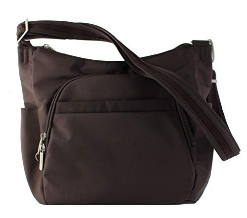 Bucket Theft DARK CHOCOLATE Size Black Bag Cross Anti W LINING Body One Travelon SAND w5nPIqFF