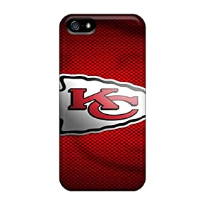 Iphone 5/5s QLR1877UnJh Support Personal Customs Beautiful Kansas City Chiefs Pattern Shockproof Hard Cell-phone Cases -AnnaDubois