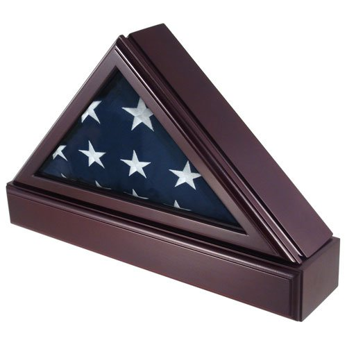 oak flag display case 3x5 - 4