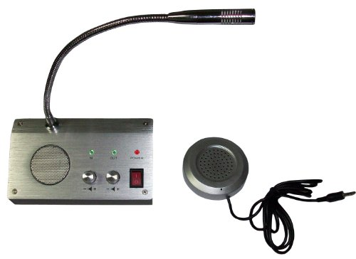 Bank Counter Window Intercom System Dual-way Intercommunication Microphone (3 Way Intercom)