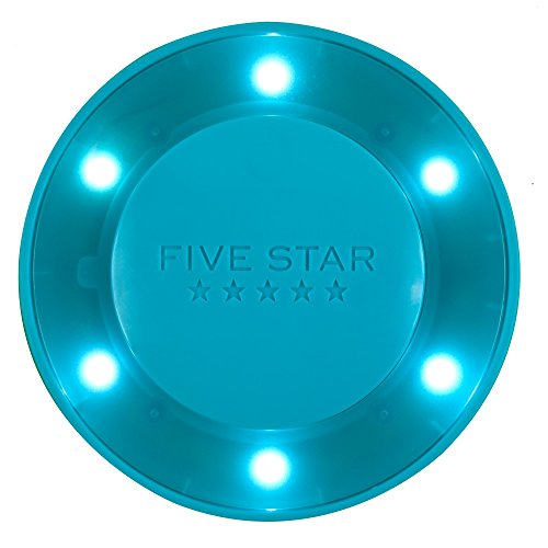 Five Star Push Button Locker Colored Light, LED, Locker Accessories, Teal, 4 in. x 1.1 in. x 4 (73571)