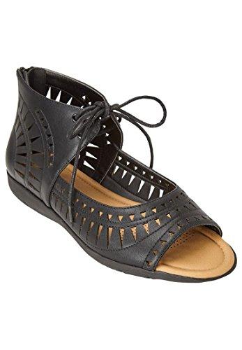 Comfortview Dames Brede Averie Sandalen Zwart
