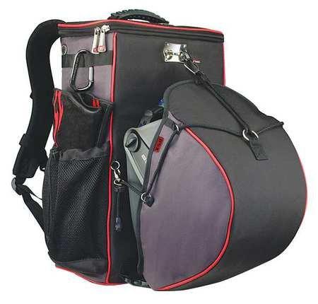 19'' Welders Tool Backpack, 8 Pockets, Black