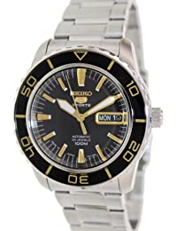 Seiko Men's SNZH57 Silver Stainless-Steel Automatic Watch with Black Dial