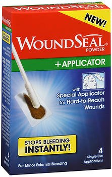 WoundSeal Powder with Applicator -4 single applications, Pack of 4 by WoundSeal