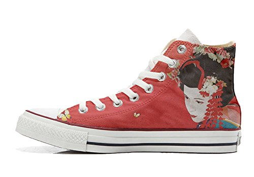 Converse All Star Customized - Zapatos Personalizados (Producto Artesano) Geisha 2
