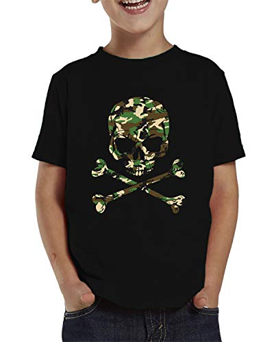 - SpiritForged Apparel Camo Skull and Crossbones Toddler T-Shirt, Black 5T/6T
