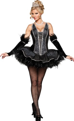 Seductive Swan Costume - Medium - Dress Size 6-10 -