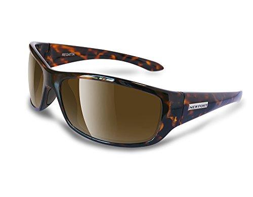 NEWPORT POLARIZED Sunglasses REGATTA Shiny Tort / Polarized Amber - Sailing Sunglasses