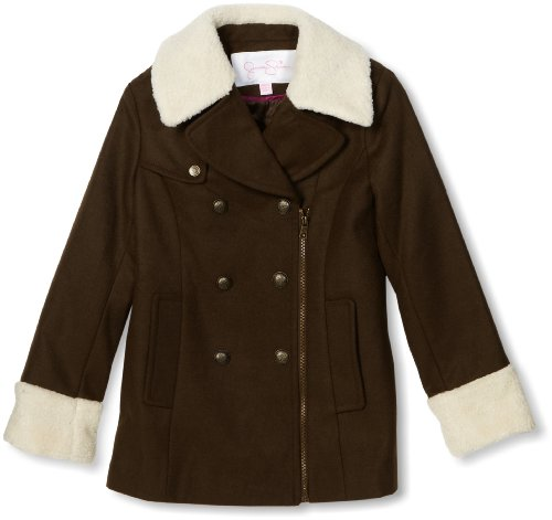 Jessica Simpson Coats Big Girls'  Asymmetrical Zipper