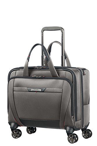 (SAMSONITE PRO-DLX 5 - Spinner Tote for 15.6'' Laptop 3.3 KG Travel Tote, 44 cm, 22 liters, Grey (Magnetic Grey))