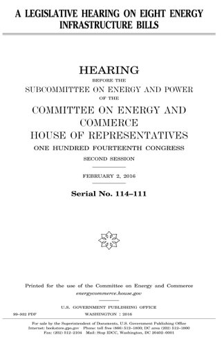 Download A legislative hearing on eight energy infrastructure bills pdf