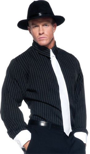 Striped Gangster Shirt (Pin Striped Adult Gangster Costume Shirt -XX-Large)
