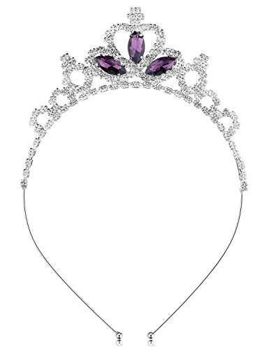 Black Swan Crown Costume (BABEYOND Crystal Rhinestone Toddler Headbands Black Swan Hairband Princess Headband Tiaras Crowns Headpiece For Kids Girls (Purple))