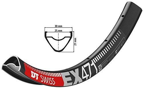DT Swiss EX 471 26 TUBELESS READYリム32hブラックwith Squorx乳首とby DTスイス B01KILD4YE