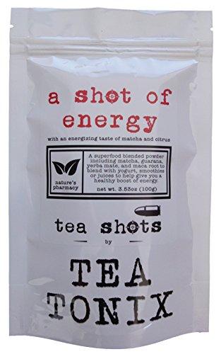 A SHOT OF ENERGY Superfood Powdered TEA SHOT Supplement with Matcha Green Tea, Guarana, Yerba Mate, Nettles and Maca to Help Improve Energy and Awesomeness - (Guarana Green Tea)