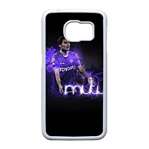 Adrian Mutu Ac Fiorentina 4121 Funda Samsung Galaxy S6 Edge teléfono celular Caso de silicona blanca Teléfono Cubiertas G6U7EC