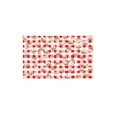 Rustic Axentz Picnic Banquet Table Size Vinyl Heavy Duty Table Cover, Reusable, Waterproof, Checkered Plaid Smore, Red, 52 x 108 (1) : Garden & Outdoor