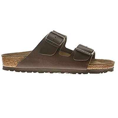 Birkenstock Sandals ''Arizona'' from Birko-Flor in dark brown 43.0 EU N