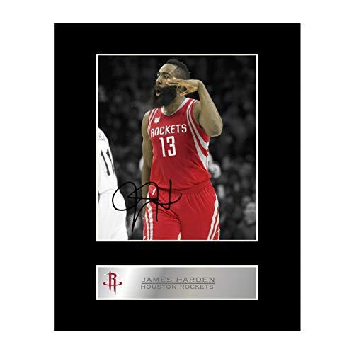 iconic pics James Harden Signed Mounted Photo Display Houston Rockets