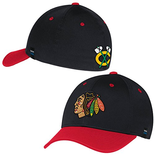 - Chicago Blackhawks Two-Tone Structured Performance Flex Fit Hat / Cap Small/Medium