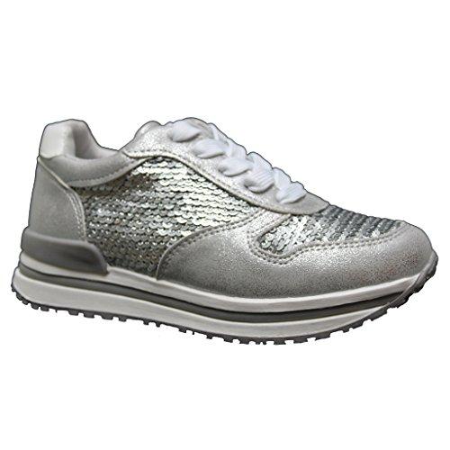XTI 55563, Mädchen Sneaker Silber