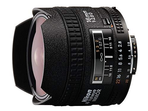 Nikon AF FX Fisheye-NIKKOR 16mm f/2.8D Fixed Lens with Auto Focus for Nikon DSLR Cameras (Renewed)