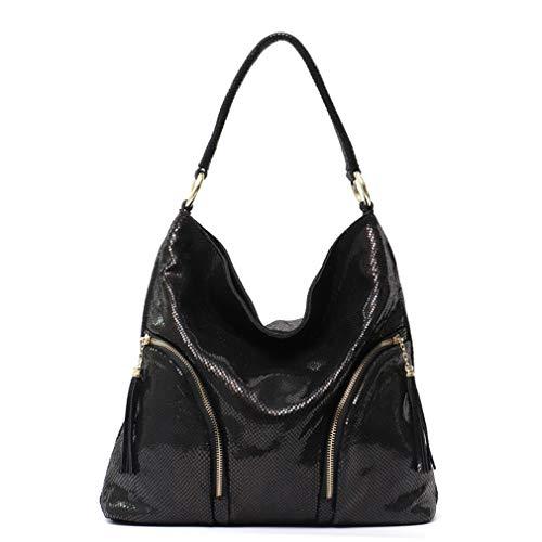 Women Shoulder Bag Leather Handbags Black