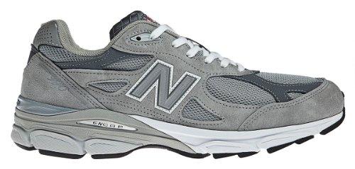 best sneakers c92f3 823c4 New Balance Men's 990v3 Grey/White Running Shoe 12 Men US ...