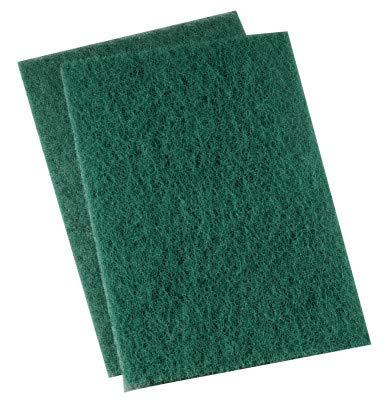 Boardwalk 186 Heavy-Duty Scour Pad, Green, 6 x 9 (Case of 15)