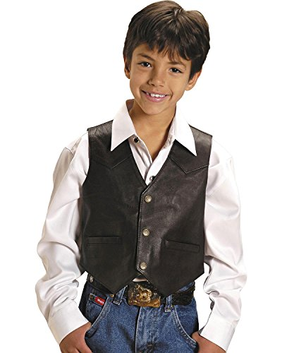 Roper Boys' Lambskin Leather Vest Brown Large by Roper (Image #3)