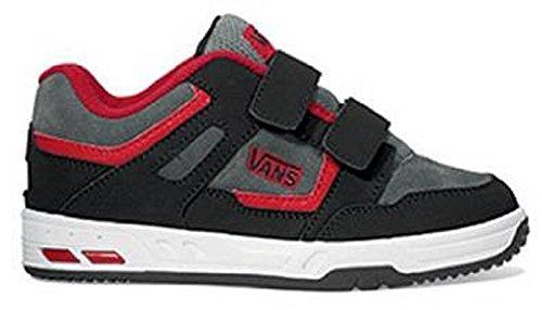 Vans, Sneaker bambini nero Black/Charcoal/Red Bambini
