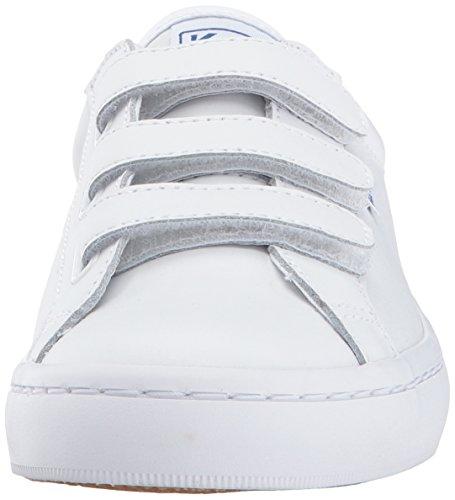 Womens Keds Pelle Tiebreak Moda Sneaker Bianche