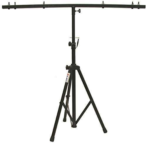 ASC Pro Audio Mobile DJ Light Stand 6 Foot Height Lighting Multi Fixture T Bar Portable Tripod by American Sound Connection
