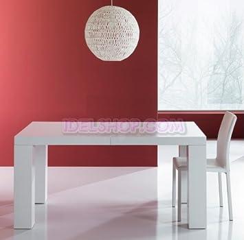 Tavolo Moderno Bianco Lucido-Opaco Allungabile: Amazon.it: Casa e cucina
