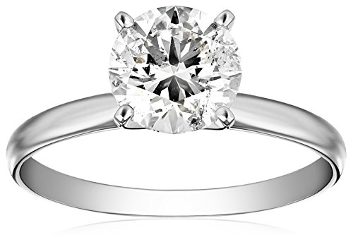 (IGI Certified Platinum Round-Cut Diamond Engagement Ring (2.0 carat, H-I Color, SI1-SI2 Clarity), Size 6 )