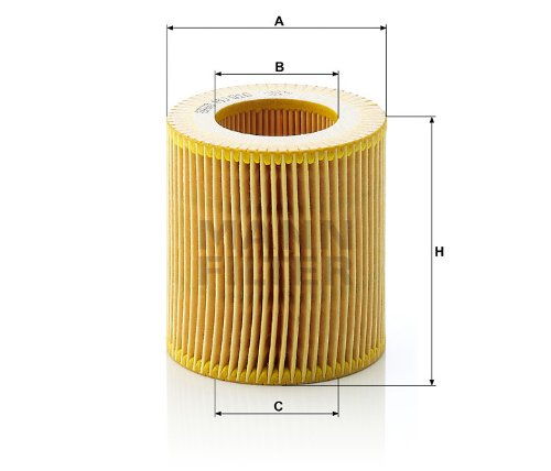Mann-Filter HU 816 X Metal-Free Oil Filter (Pack of 2) (N55 Oil Filter)
