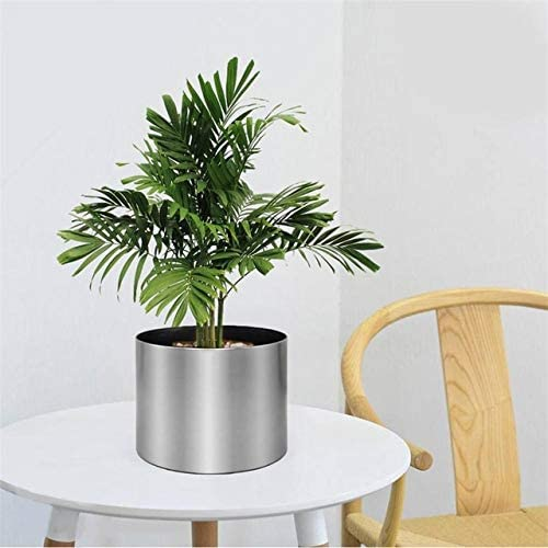 YSSHPPJ Maceta Metal Flower Pot Garden Supplies House Decoración ...